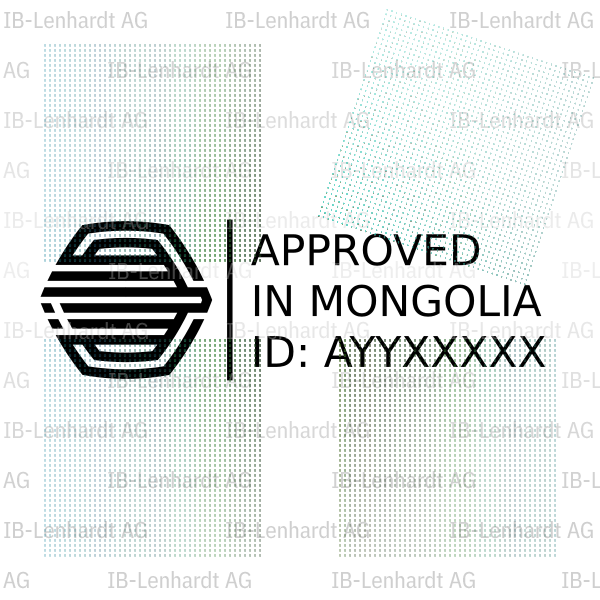 Mongolia Type Approval Label