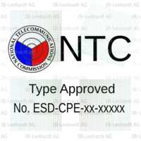 Example Radio Type Approval Label for Philippines