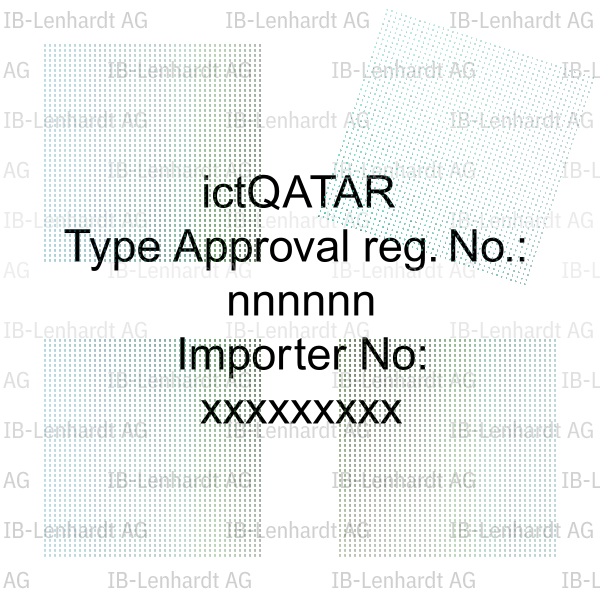 Qatar Type Approval Label